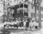 Children in front of Children's Home at 3302 Florida Avenue : Tampa, Fla.